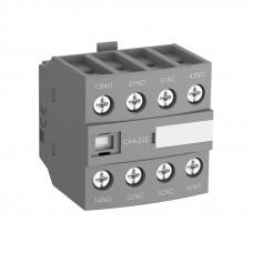 Блок контактный дополнительный CA4-22M (2НО+2НЗ) для контакторов  AF09…AF16..-30-10