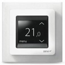 DEVI, терморегулятор DEVIreg Touch сенсорный, скрытого монтажа, полярно-белый