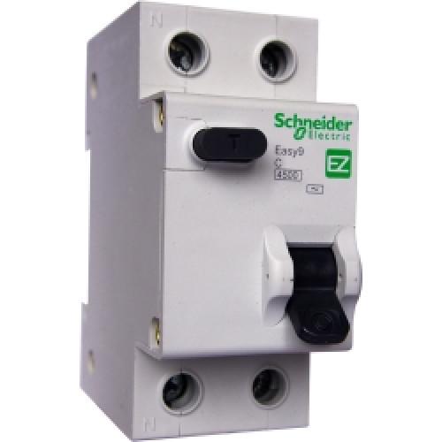 Дифференциальный автоматический выключатель EASY 9 1П+Н 20А 30мА C AC 4,5кА 230В =S= EZ9D34620