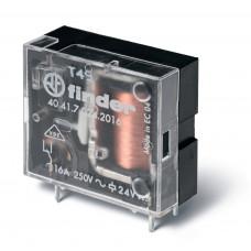 Миниатюрное универсальное электромеханическое реле;  1CO 10A; катушка 24В DC (чувствит.);