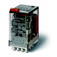 Миниатюрное универсальное электромеханическое реле;  4CO 7A;  катушка 230В АC;опции: кнопка тест + мех.индикатор
