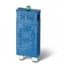 Модуль индикации и защиты; зеленый LED + варистор; 110...240В AC/DC