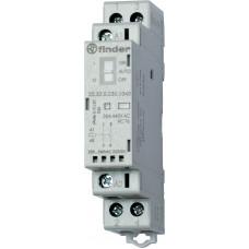 Модульный контактор; 1NO+1NC 25А;  катушка 230В АС/DC;опции: переключатель Авто-Вкл-Выкл + мех.индикатор + LED