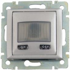 не пост-ся!! Выключатель Legrand Valena с датчиком движения с нейтралью 1000Вт (алюминий)   770289