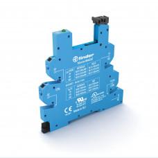 Розетка MasterBASIC с безвинтовыми клеммами Push-in для реле 34 серии; питание 230-240В AC; в комплекте пластиковая клипса; опции: LED