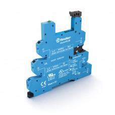 Розетка MasterPLUS с безвинтовыми клеммами Push-in для реле 34 серии; питание 24В DC; в комплекте пластиковая клипса; опции: LED